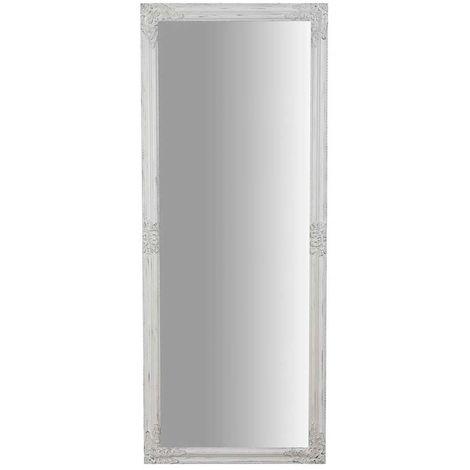 Espejo de pared de colgar de colgar vertical/horizontal 72x3x180 cm acabado con efecto blanco envejecido