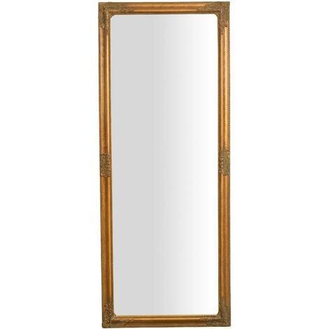 Espejo de pared de colgar de colgar vertical/horizontal 72x3x180 cm acabado con efecto oro envejecido