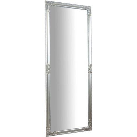 Espejo de pared de colgar de colgar vertical/horizontal 72x3x180 cm acabado con efecto plata envejecido