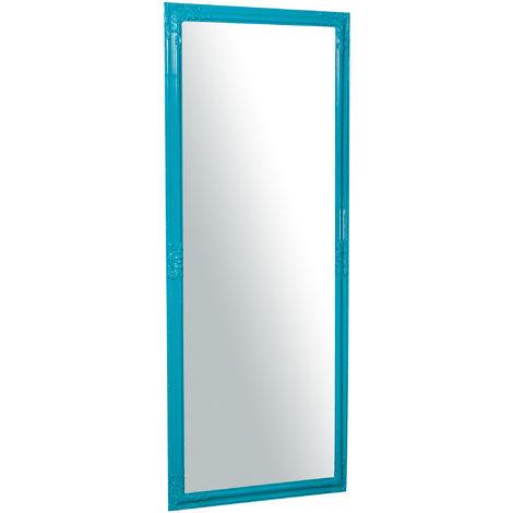Espejo de pared de colgar de colgar vertical/horizontal 72x3x180 cm acabado de luz azul brillante