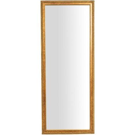 Espejo de pared de colgar de colgar vertical/horizontal L72xPR3xH180 cm acabado con efecto oro envejecido