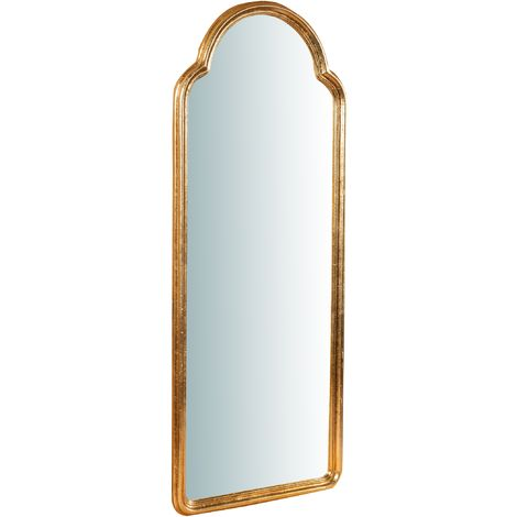 Espejo de pared de colgar de madera acabado con efecto blanco envejecido talla L40XPR3XH100 cm Made in Italy