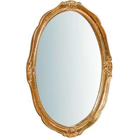 Espejo de pared de colgar de madera fixaci