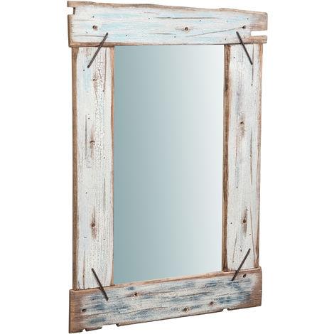 Espejo de pared de colgar de madera maciza L60XPR3,5XH90 cm