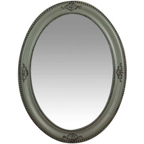 Espejo de pared de colgar vertical/horizontal 64x3x84 cm acabado con efecto gris envejecido