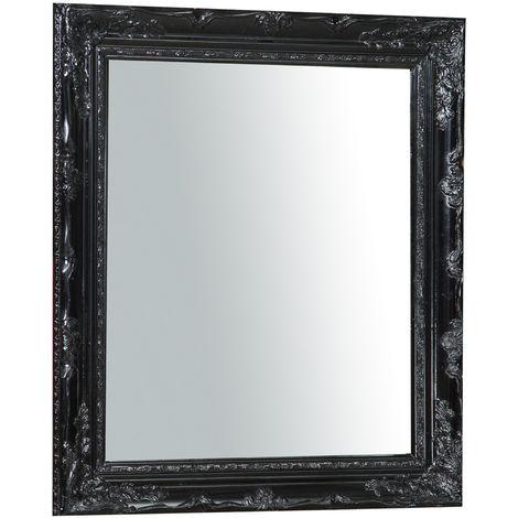 Espejo de pared de colgar vertical/horizontal 64x4x74 cm acabado con efecto nigro l
