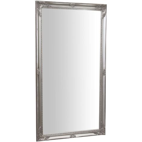 Espejo de pared de colgar vertical/horizontal 72x3x132 cm con efecto plata envejecido