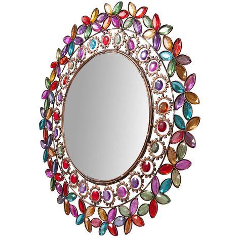 Espejo de pared de colgardiam. 51,5 cm