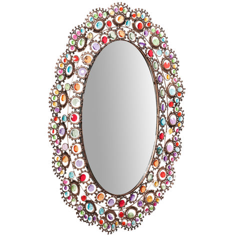 Espejo de pared de colgaroval 63X73 cm
