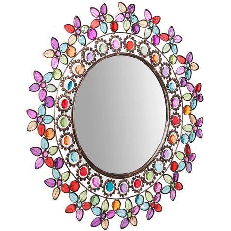 Espejo de pared de colgarredondo diam. 60 cm