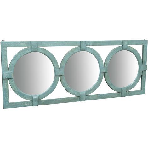 Espejo de pared de madera maciza L180xPR4xH69 cm
