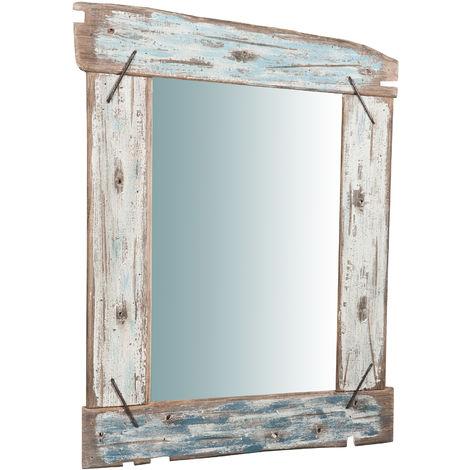 Espejo de pared de madera maciza L65,5XPR3,5XH86 cm