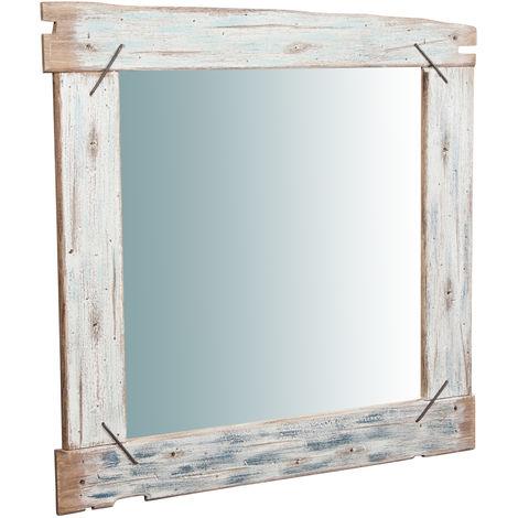 Espejo de pared de madera maciza L90XPR3,5XH 120 cm