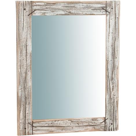 Espejo de pared de madera maciza R