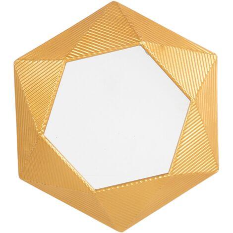 Espejo de pared dorado 60x51 cm BASTIA