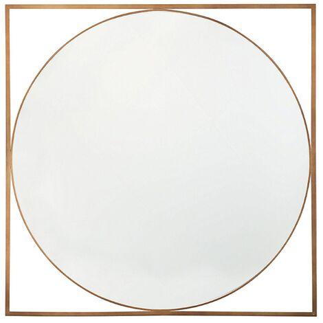 Espejo de pared dorado 76x76 cm NIHOA