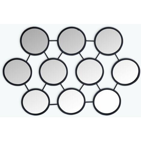 Espejo de Pared en Metal (55,8x83,5 cm) Favus SKLUM Hierro Negro - Negro