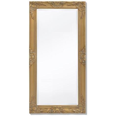 Espejo de pared estilo barroco 100x50 cm dorado
