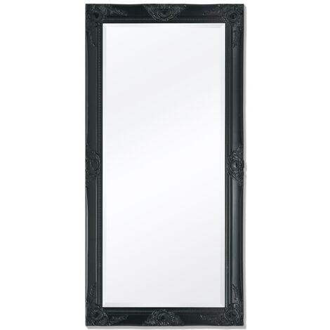 Espejo de pared estilo barroco 120x60 cm negro