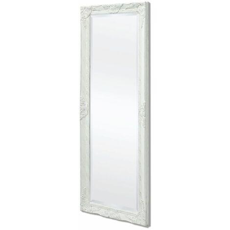 Espejo de pared estilo barroco 140x50 cm blanco