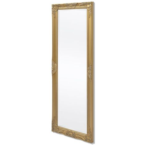Espejo de pared estilo barroco 140x50 cm dorado