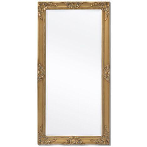 Espejo de pared estilo barroco dorado 120x60 cm
