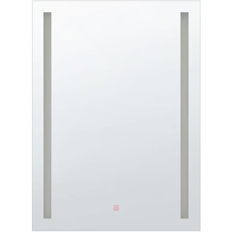 Espejo de pared LED 60x80 cm plateado MARTINET