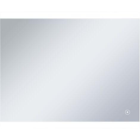 Espejo de pared para baño con LED y sensor táctil 60x50 cm