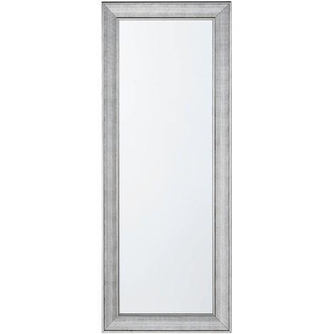 Espejo de pared plateado 50x130 cm BUBRY