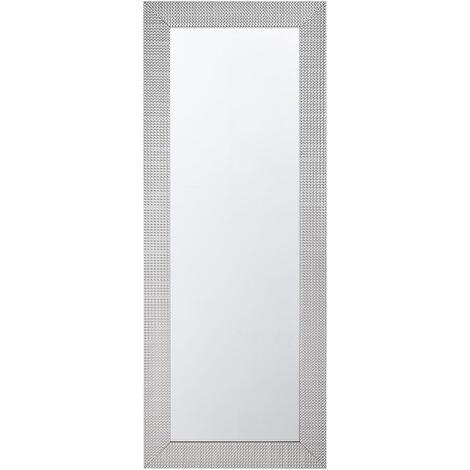 Espejo de pared plateado 50x130 cm DERVAL