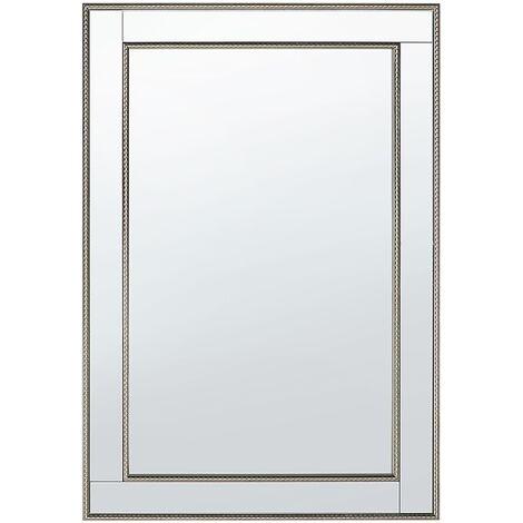 Espejo de pared plateado 60x90 cm FENIOUX