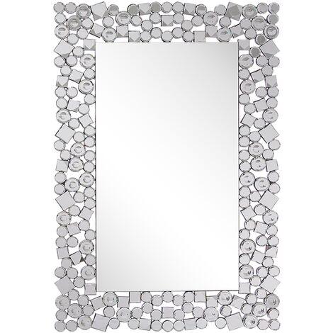 Espejo de pared plateado 60x90 cm MERNEL