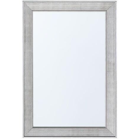 Espejo de pared plateado 61x91 cm BUBRY