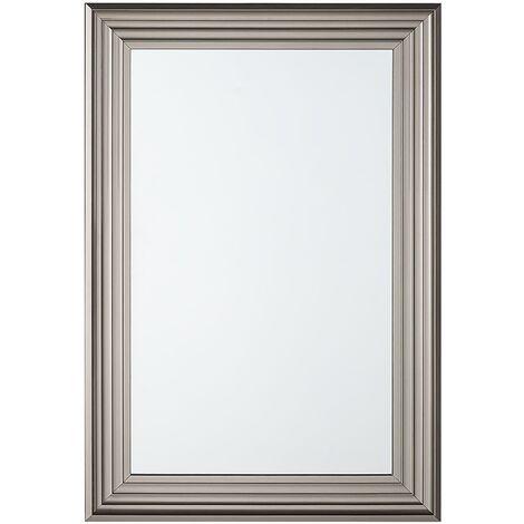 Espejo de pared plateado 61x91 cm CHATAIN
