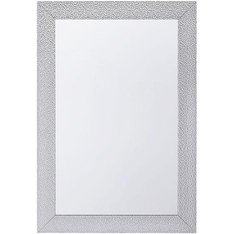 Espejo de pared plateado 61x91 cm MERVENT