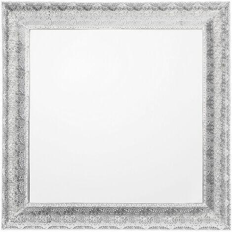 Espejo de pared plateado 65x65 cm CAVAN