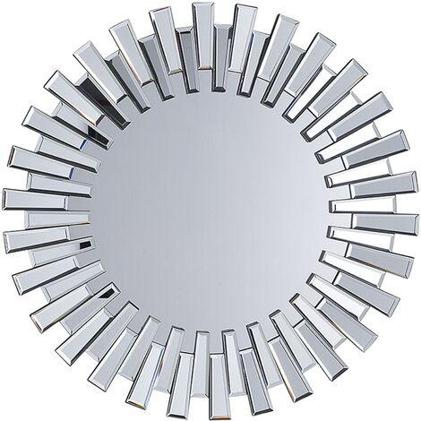 Espejo de pared plateado ø70 cm CHOLET