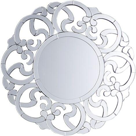 Espejo de pared plateado ø70 cm MORNAIX