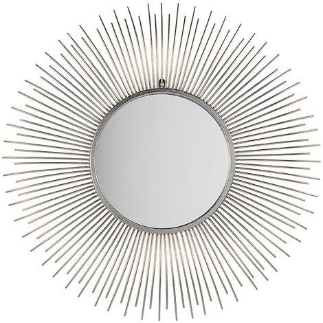 Espejo de pared plateado ø80 cm CILLY
