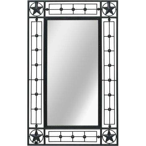 Espejo de pared rectangular 50x80 cm negro