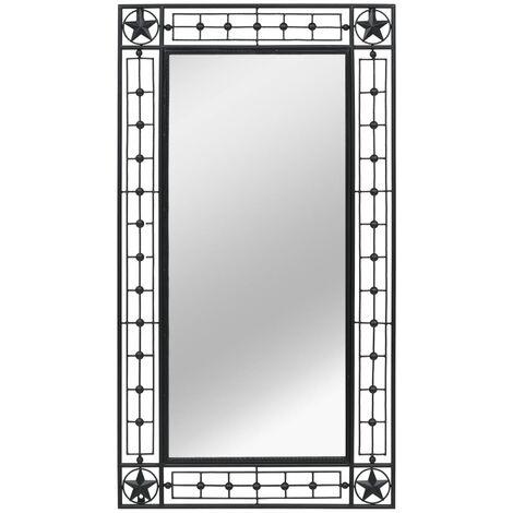 Espejo de pared rectangular 60x110 cm negro