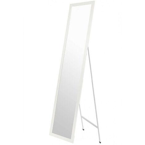 Espejo de Pie Blanco. Espejo Grande de Suelo para Dormitorio, Fácil montaje 35x125cm - Hogar y Más Color - Blanco