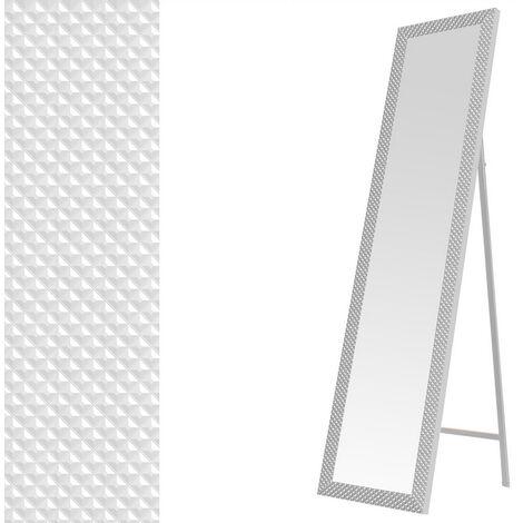 Espejo de pie con textura blanco de plástico PE de 37x157 cm