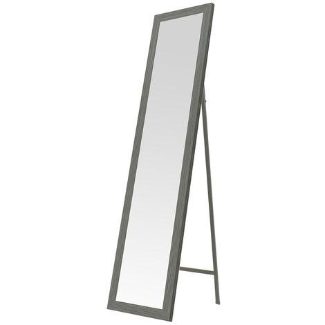 Espejo de pie gris nórdico de madera de 37x157 cm