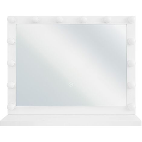Espejo de pie LED 50x60 cm blanco BEAUVOIR