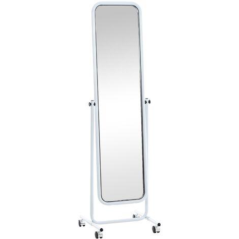 Espejo de pie Medusa Eckig Blanco