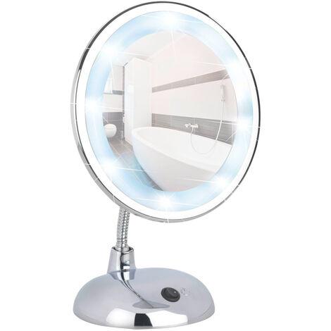 Espejo de pie para la cosmética con LED Style cromo WENKO
