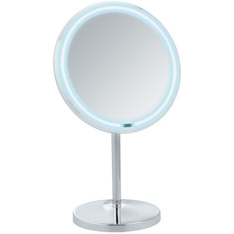 Espejo de pie para la cosmética con luz LED, Onno