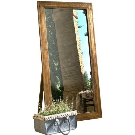 Espejo de piso de madera vieja Guarnieri Sedano