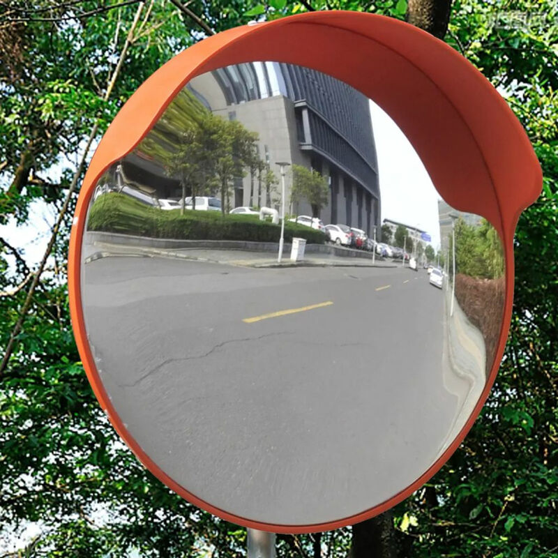 Espejo de trafico convexo plastico naranja 45 cm